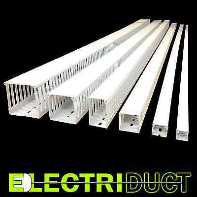 """1""""x1"""" Open Slot Wire Duct - 6 Sticks - Total Feet: 39FT - White - Electriduct"""