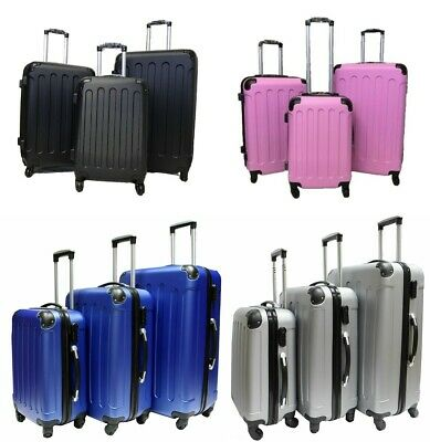 Hard Shell 4 Wheel Spinner Suitcase Case Luggage Trolley Cabin Carry On 3COLOURS