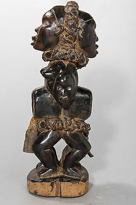 Yombe, Janiform, Power Figure, D.R. Congo, African Tribal Sculpture, African Art
