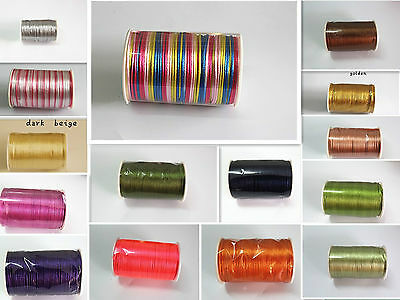 New 5yd/10yd/100yd 2mm Satin Rattail Cord nylon jewelry macrame kumihimo beads A