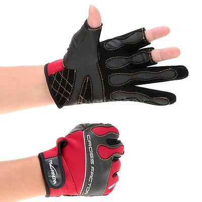 1 Pair Outdoor Sports Anti-slip 3 Low-Cut Fingers Fishing Gloves Breathable 0G7B