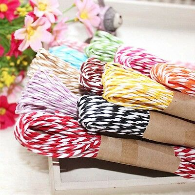 10m/pc Wrap Gift Link Paper Tag Jute Burlap Ribbon Twine Rope Cord String Random