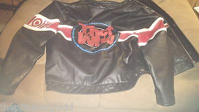 AWESOME VERY RARE VINTAGE 1980s THE WHO Live Concert LEATHER JACKET WILSONS RARE
