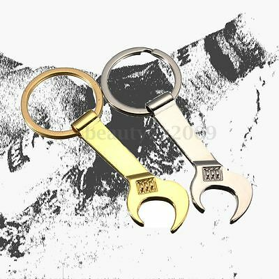 Portable Metal Creative Tool Bottle Opener Wrench Spanner Key Chain Keyring Gift