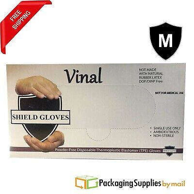 500 Pcs Food Service Powder Free Medium Vinal Gloves (Non Latex Nitrile Vinyl)