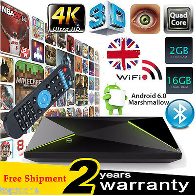 T95N S905 4K UHD Quad Core Android6.0 TV Box 8GB Fully Loaded Smart Media Player