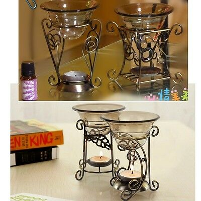 Fragrance Oils Simmering Granules Melts Iron With Candle Oil Burner Glass Dish