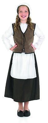 Anglo Saxon Tudor Medieval Girl Peasant Costume Complete Outfit New 4-6-8-10-12