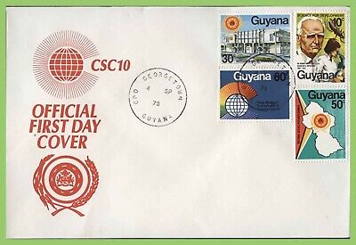 Guyana 1978 Science Research Council set on First Day Cover