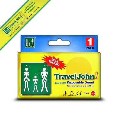 TravelJohn Resealable Disposable Urinal (1 Pack)