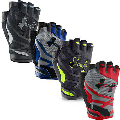 Under Armour 2016 Resistor Demi Doigts Gants Formation Gym Fitness Hommes