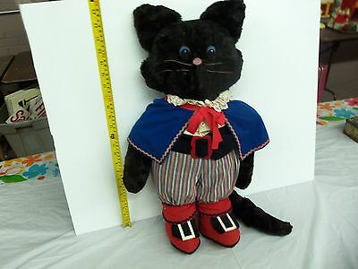 Vintage 1950's  Puss & Boots Stuffed Cat