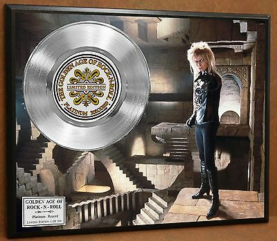 David Bowie Labyrinth LTD Edition Platinum Record Poster Art Memorabilia Display