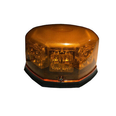 Britalitez Ultra Bright Amber 32W LED Beacon Safety Warning Light, Commercial