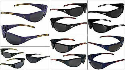 c4fdb1b878cf Nfl Wrap 3 Dot Black Sunglasses Pick Your Team Football Sports Sun Glasses