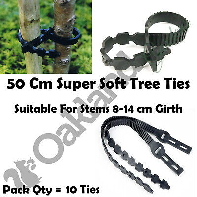 20 X 50Cm Super Soft Rubber Tree Ties Strap Plant Support Whip Bareroot Straps