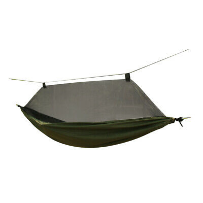 Portable Outdoor Camping Hammock Parachute Hanging Sleeping Bed Mosquito Net
