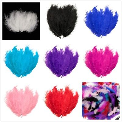 200PCS Marabou Feathers For Art Craft Wedding Party Millinery Costume Decor 10cm