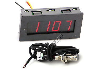 Digital LED Tachometer RPM Speed Meter with Hall Proximity Switch Sensor