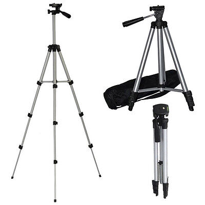 """50"""" Portable Camera Camcorder Tripod Universal Stand + Carry Case Cannon Samsung"""
