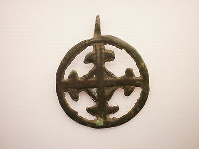 ANCIENT RARE Viking CROSS PENDANT Viking Kievan Rus ca 10-12 century AD##6