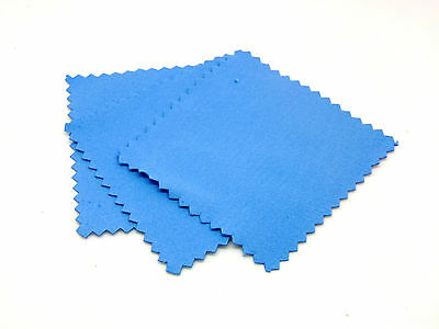 Blue Suede Fabric Cleaning Cloths Polishing Cloths Jewellery Craft Tools J87