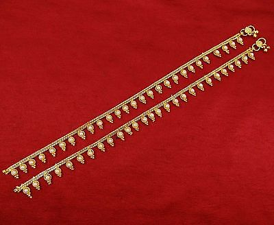 Indian Traditional Pearl Beads Payal Wedding Designer Barefoot Anklet Jewelry