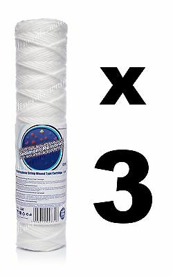 "3 x 5 micron sediment filter string-wound 10"",water filter,Reverse osmosis,RO."