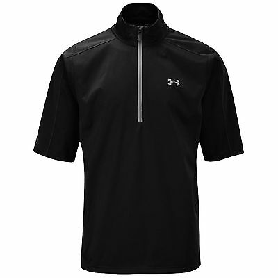 Under Armour Mens Armourstorm Waterproof Short Sleeve Top - New Golf Rain Jacket