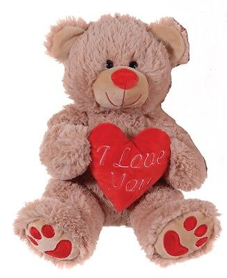 """Brand New 10"""" Brown Valentines I Love You Heart Teddy Bear Plush Soft Toy"""