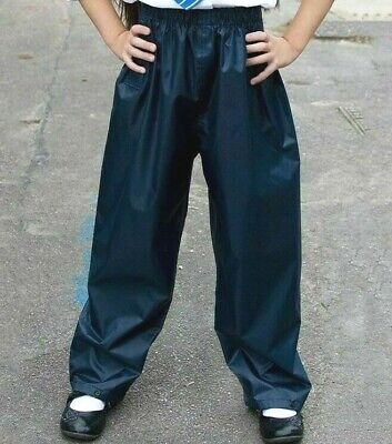 Result Core Junior Rain Trousers Childrens Waterproof Pants Kids Outwear (R226J)