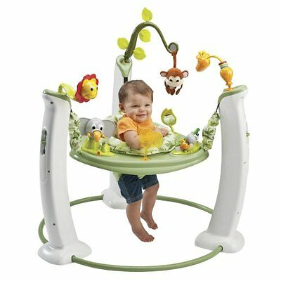Evenflo Exersaucer Jump & Learn Stationary Jumper Learn and Play- Safari Friends