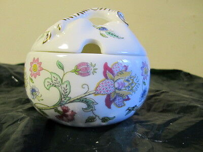 Minton Haddon Hall Preserve Pot With Branch For Handle  Mint