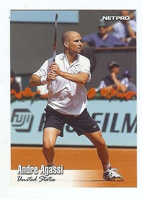 (100) ANDRE AGASSI 2003 NetPro Tennis Card #15 LOT