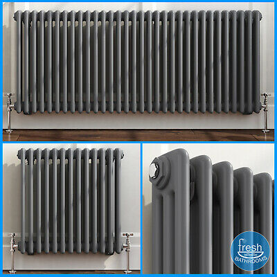 Bar Anthracite Horizontal Traditional Radiators | Bathroom Central Heated Rad