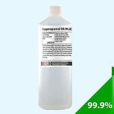 IPA IsoPropyl Alcohol Isopropanol 99.9% Pure 1 Litre *Professional Seller*