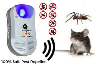 Ionic Ultrasonic 5 in 1 Repeller Pest Rat Mice Insect Spider Dustmite Repels New