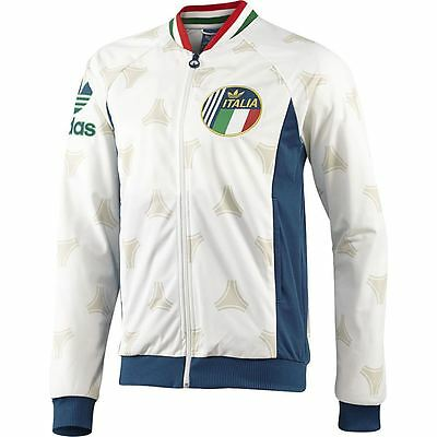 Adidas Originals Men's Retro Italy Track Top Jacket White Sizes Xs-Xl