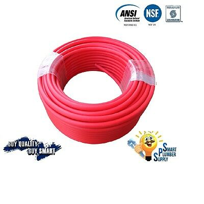 """3/4"""" x 500 ft RED PEX TUBING FOR WATER SUPPLY WITH 25 YEARS WARRANTY"""