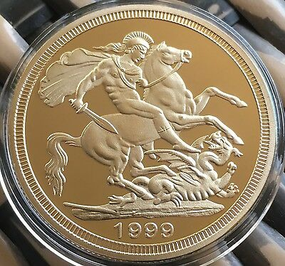 St George Slaying The Dragon Collectable Coin 1999 Finished In 24k Gold .999 1oz