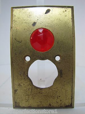 Antique Architectural Red Jeweled Glass Electrical Switch Cover Outlet Hardware