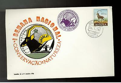 1976 Angola First Day Cover FDC Conservation Nature