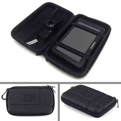 Universal EVA PU Hard Case Cover for 5.2 / 4.3 Inch TomTom Garmin GPS Navigator