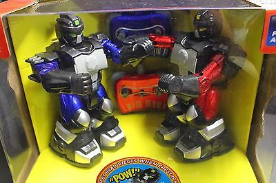 Blue Hat Black Series Cyber Battle Boxing Remote Controlled RC 2 Robots Wireless