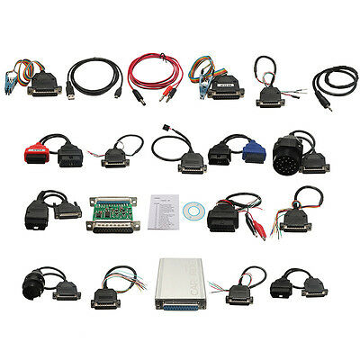 Newest Version CARPROG FULL V7.28 with 21 Items Adapters OBD2 Diagnostic