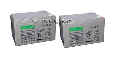 Pair of  Lucas 12v 14ah Battery for Mobility Scooter Uprated 12V 12Ah   V