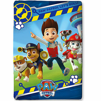 Paw Patrol Rescue Blue Red Kids Childrens Single Duvet Quilt Cover Bedding Set
