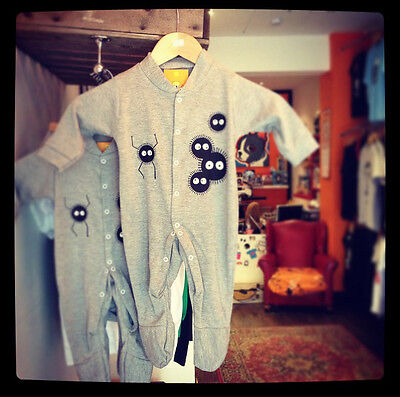 Spirited Away Soot Sprite Inspired Baby Grow Sleepsuit Studio Ghibli Totoro Kids