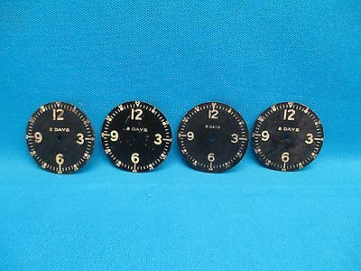Lot of Four 8 Day Mechanical Clock Faces Dials Face (16274)