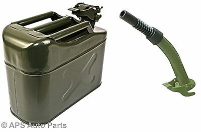 5L Metal Steel Jerry Gerry Can Fuel Diesel Petrol Water Oil Container + Spout